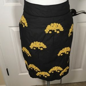 Anthropologie Floreat Embroidered Skirt. Sz4